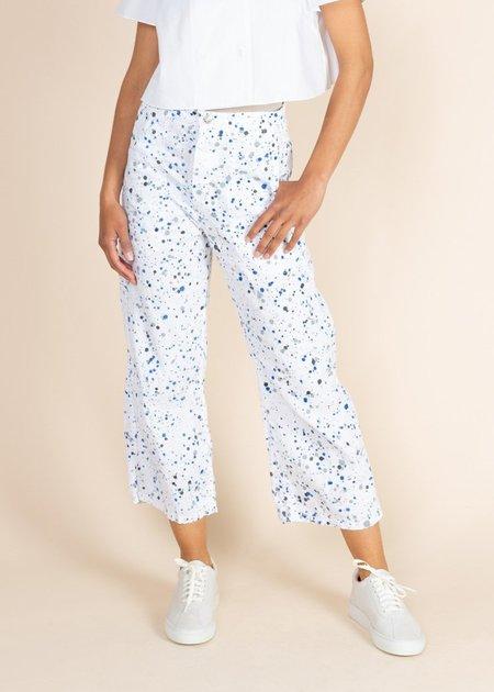qnatu Splatter Sailor Pant - white splatter