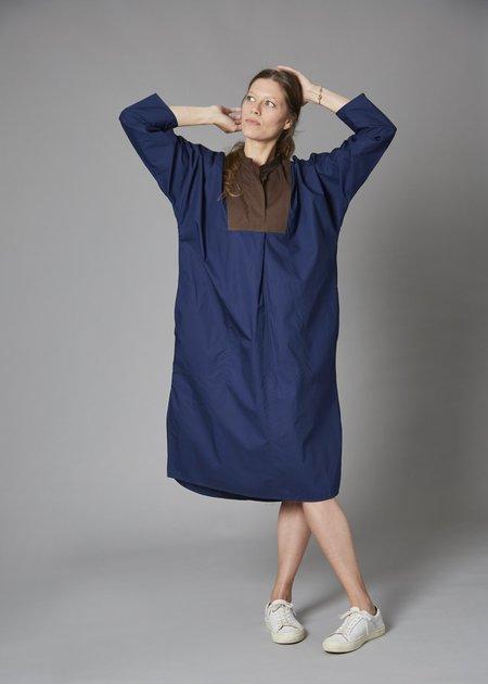 Sofie D'Hoore Dimitri Dress - Navy/Chocolate