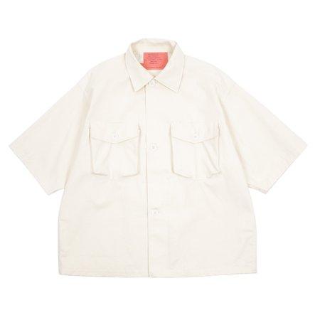 N.hoolywood Two Pocket Short Sleeve Shirt - Ivory