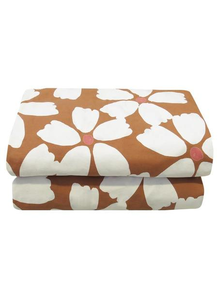 Mosey Me Full Bloom Quilt Cover Set - Toffee & Cream