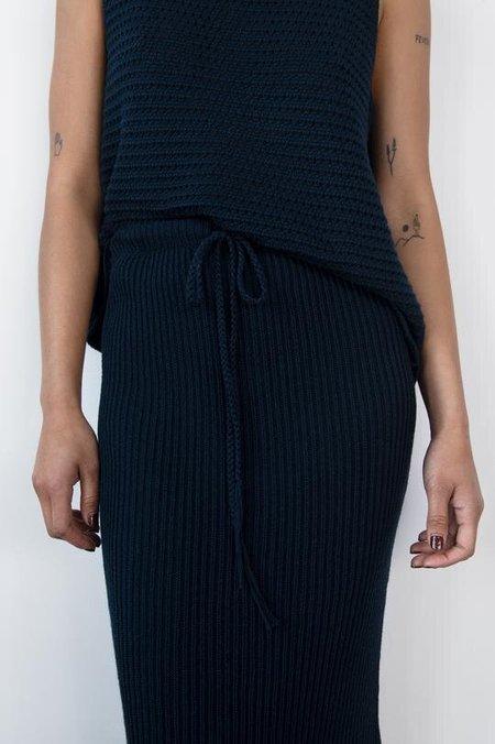 Wol Hide Rib Skirt - Navy