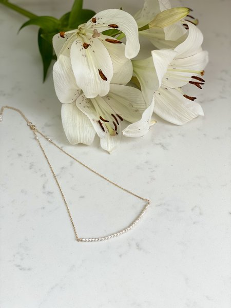 The Loved One Pearl Bar Choker Necklace