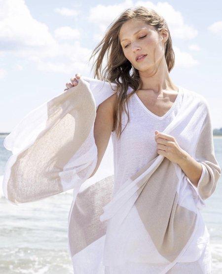 Heidi Says Linen Ruana cardigan - white/flax