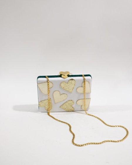 [Pre-loved] BUTRICH The Sugar Box Clutch - White/Gold