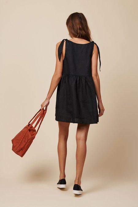 Whimsy + Row Kate Dress - Black Linen