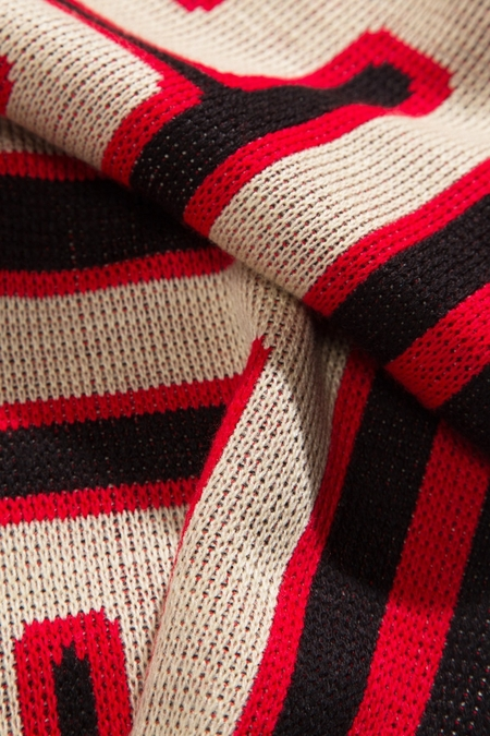 Aries Arise Meandros Scarf - Black/Red