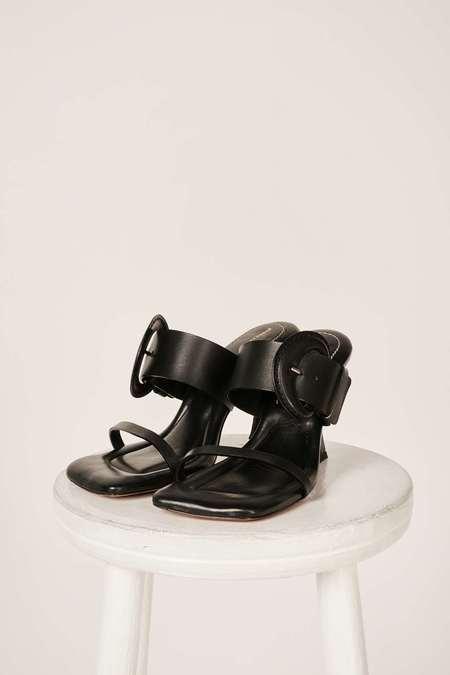 Proenza Schouler Buckle padded sandals - Black