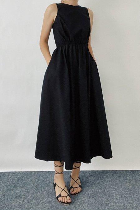 JOWA. Open back Tie Dress - Black