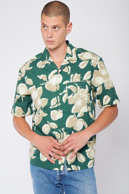 PRESIDENTS Rangi Lemon Print Shirt - Bottle Green