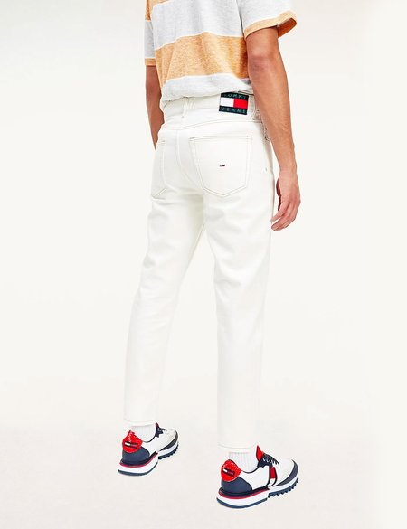 Tommy Hilfiger Recycled Cotton Dad Tapered Jeans - White