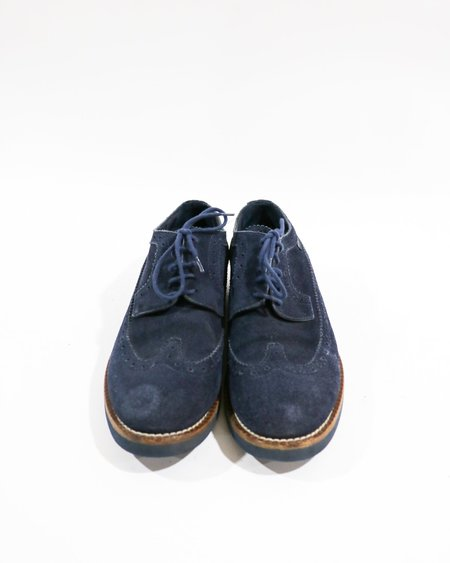 [Pre-loved] Louis Vuitton Suede Oxfords - Navy