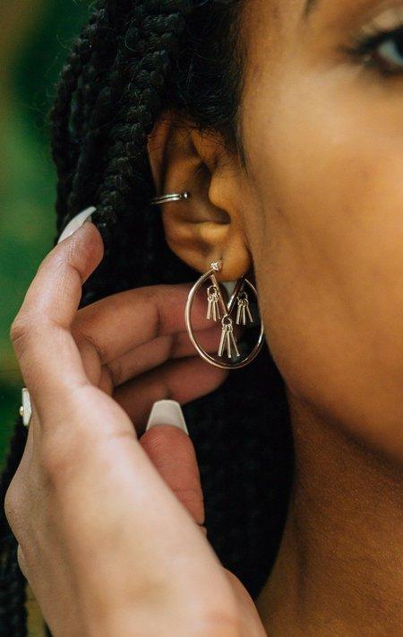 Sierra Winter Jewelry Honky Tonk Hoop Earrings - Sterling Silver