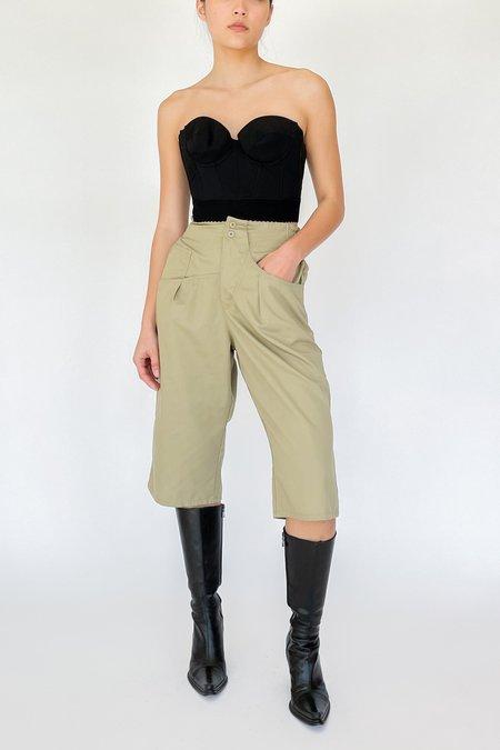 Vintage High Rise Shorts - Khaki