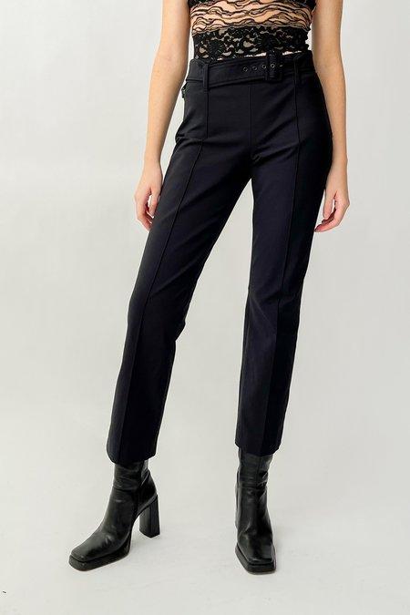 Vintage Prada Belted Trousers - Black