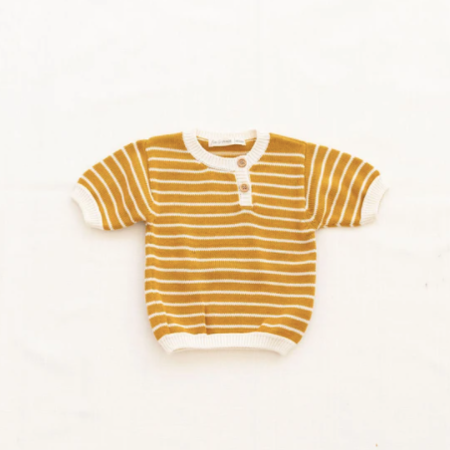 Kids Fin & Vince Zion Knit Top - Goldenrod