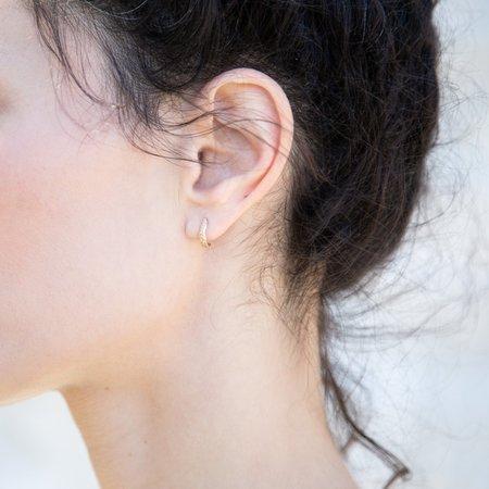 Siri Hansdotter Fern Mini Hoop Earrings