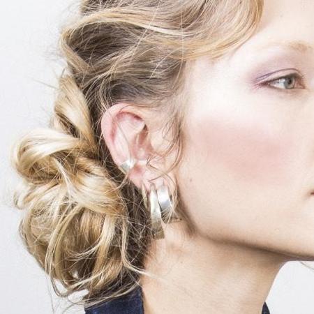 Siri Hansdotter Sigr Narrow Half Hoop Earrings