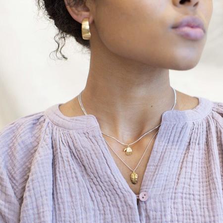 Siri Hansdotter Sigr Wide Half Hoop Earrings - Sterling Silver
