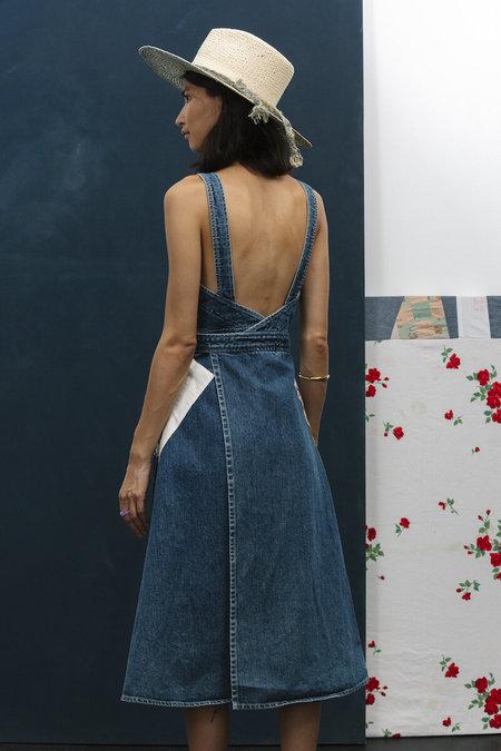 Carleen Patchwork Louise Wrap Dress - Denim
