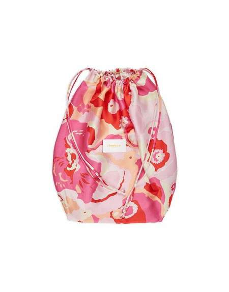 La Double J Silk Sack Bag - Peonia Rosa