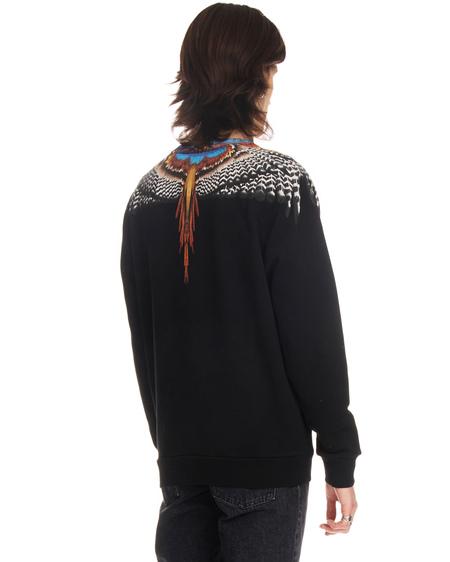 Marcelo Burlon Bezier Wings Print Sweatshirt - Black
