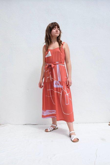 Eve Gravel Ava Dress - Ugo Terracotta