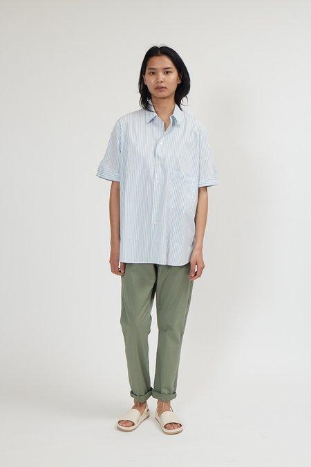 Hope Elma Short Sleeve Top - Light Blue Stripe