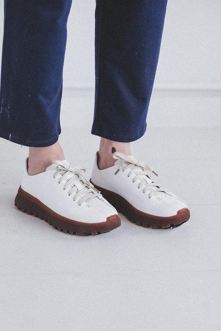 FEIT LATEX WALKER SNEAKERS - WHITE