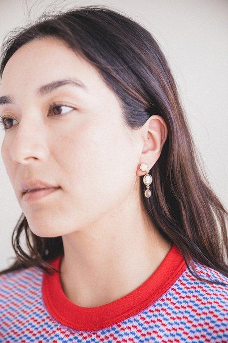 Grainne Morton Three Charm Drop Cameo Earrings