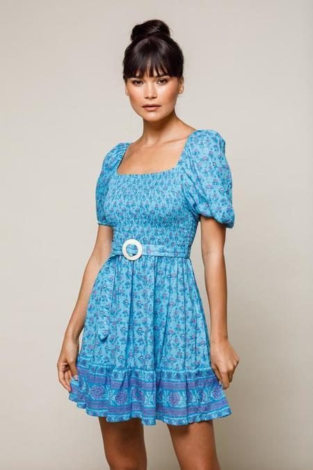 BEACHGOLD Lila Mini Dress - Bluebell