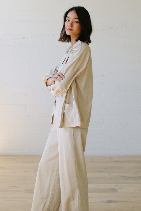 Rachel Pally Winter Linen Canvas Carson Pant - Ecru