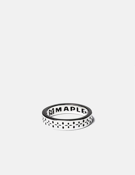 Maple Bandana Ring - Silver 925