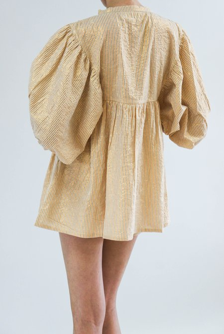 Jen's Pirate Booty High Desert Medellin Tunic - Gold Stripe Sand