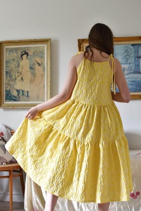 Eliza Faulkner Cece Dress - Yellow Jacquard