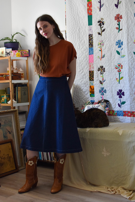 Eliza Faulkner Winnie Skirt - Denim