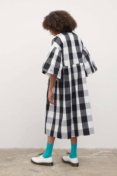 Kowtow Yoshi Dress - Black/White Check