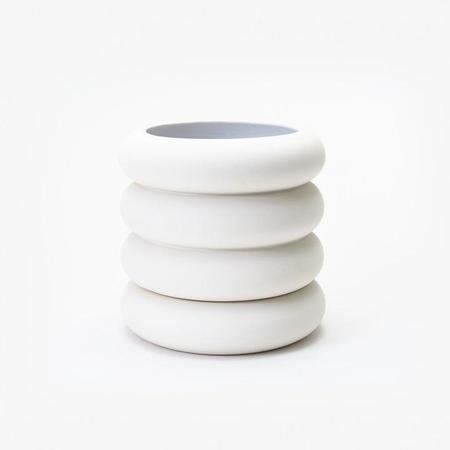 Areaware Tall Stacking Planter - White