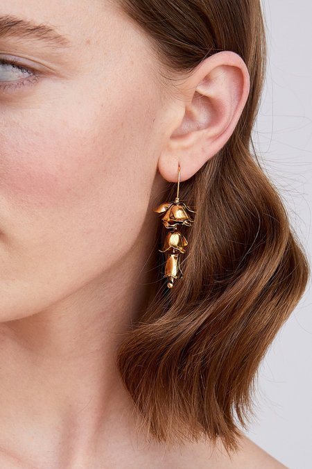 Jennifer Behr Bluebell Earrings - Gold