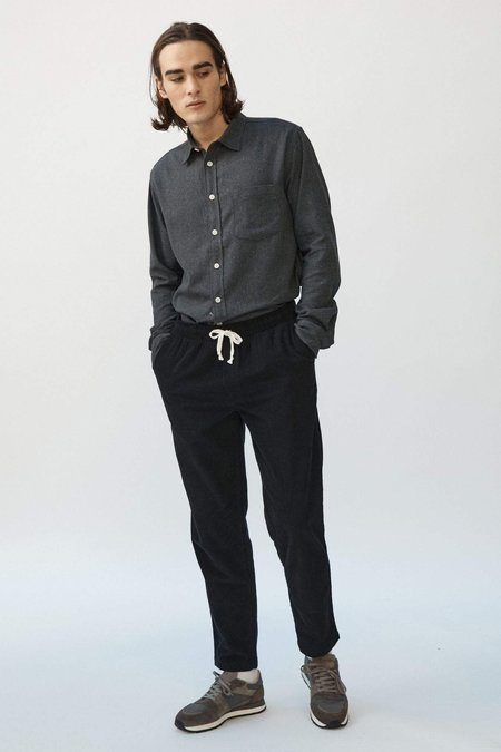 Corridor Drawstring Pincord Trousers - Black