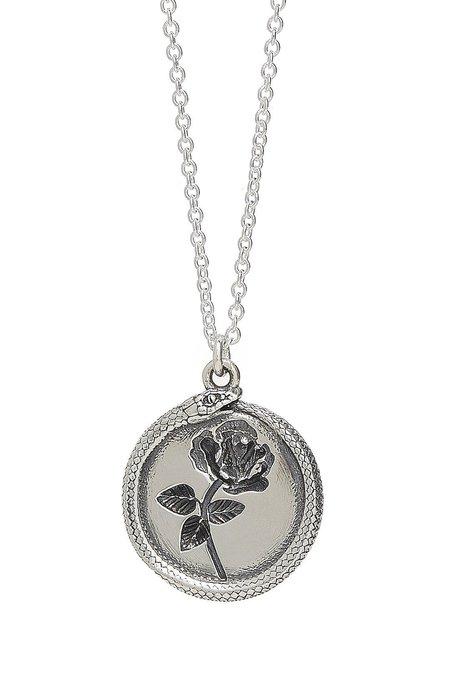 Talon Rose Ouroboros Necklace - Silver