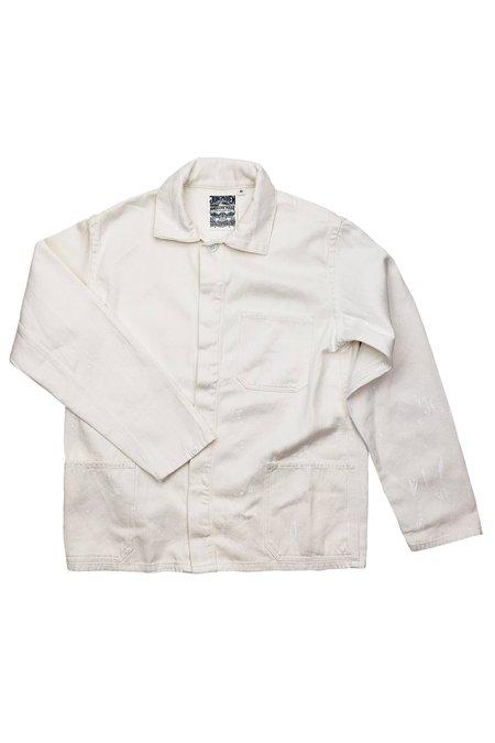 Jungmaven Splatter Olympic Jacket - White on White