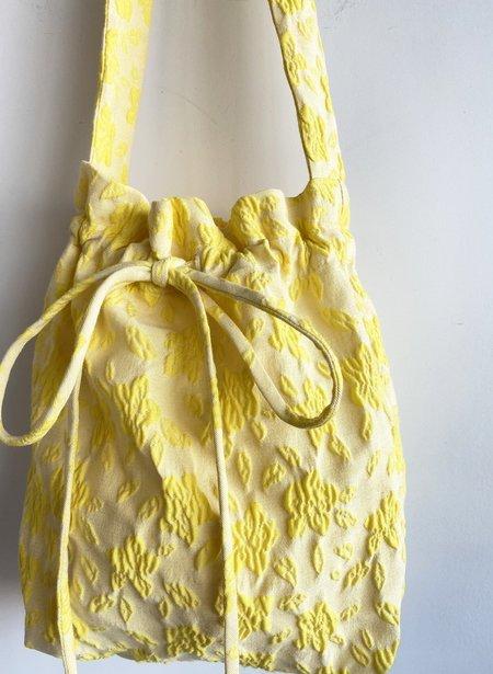 Eliza Faulkner Jacquard Mini Bunni Bag - Yellow