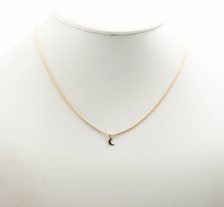 Slate Small Moon Necklace