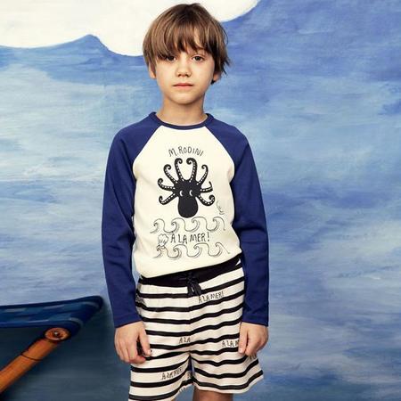 kids Mini Rodini A La Mer Shorts - White