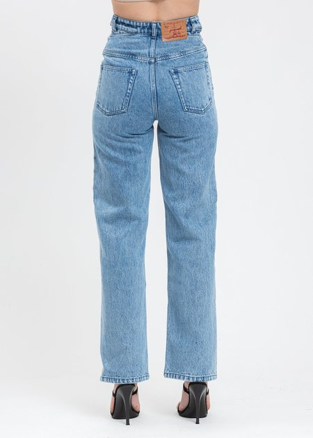 Y/project Crystal Rhinestone Jeans - Blue