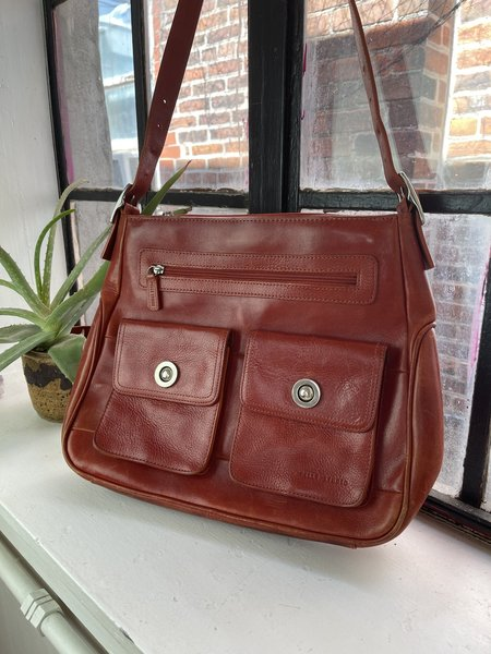 Vintage Wilson's Leather Tote - Red