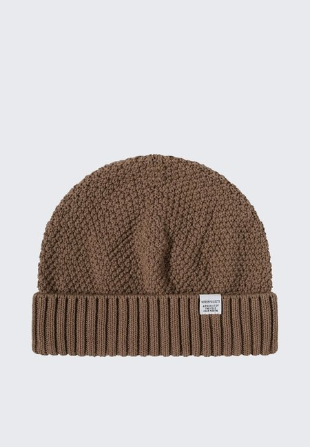 Norse Projects Moss Stitch Beanie - taupe