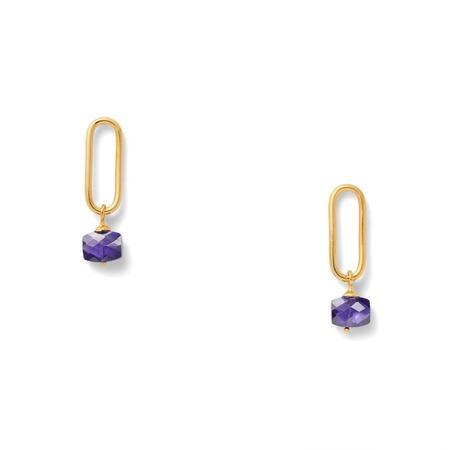 CC & Co Prince's Earrings - Purple