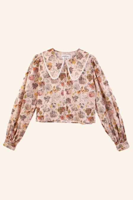 Meadows Foxglove Shirt - Scribble Floral