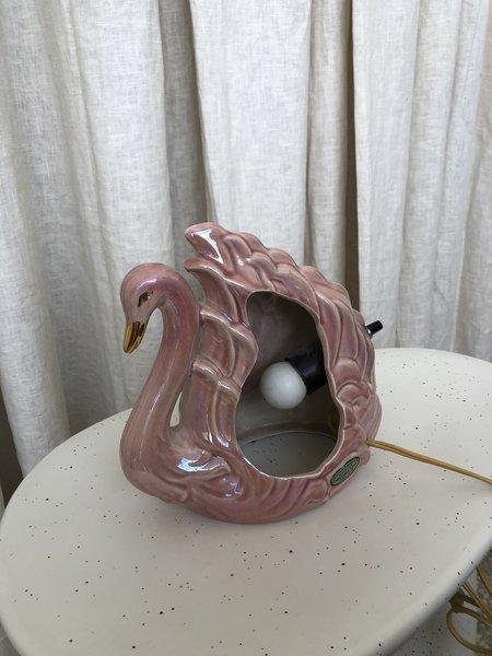 vintage SWAN TV LAMP - Pink